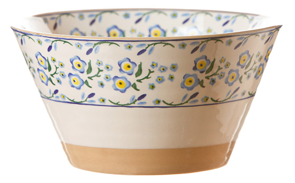 Forget Me Not Angled Bowl Large