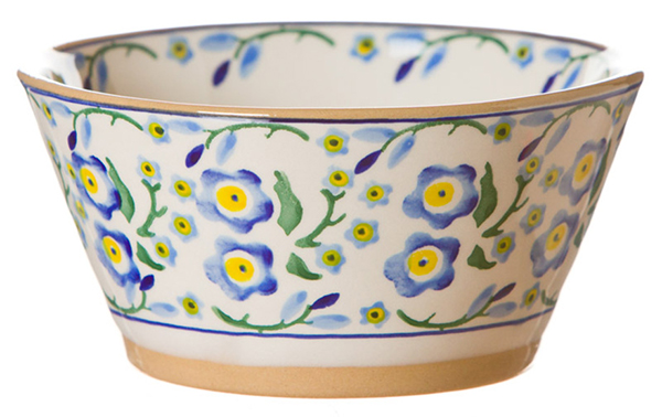 Forget Me Not Angled Bowl Small