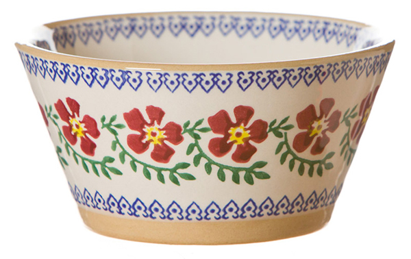 Old Rose Angled Bowl Small