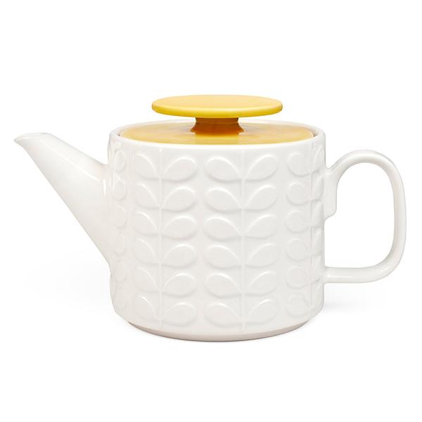 Orla Kiely Teapot yellow