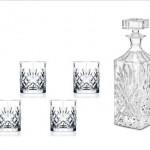 Killarney Crystal Trinity Whiskey Decanter Set