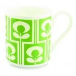 Orla Kiely Climbing Flower Oval Green China Mug