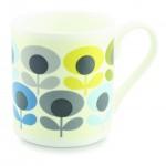 Orla Kiely Multi Flower Oval Blue China Mug