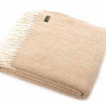 Tweedmill Pure New Wool Beehive Throw Beige