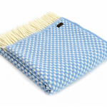 Tweedmill Pure New Wool Twill Throw - Blue