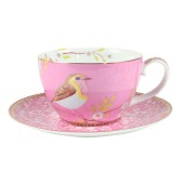 51.004.001 1early-bird-cappucchino-cup-saucer-pink