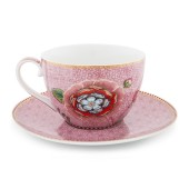 51.004.049 spring to life cappucchino-cup-saucer-pink