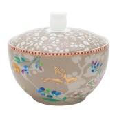 51.008.029 khaki sugar bowl hummingbirds