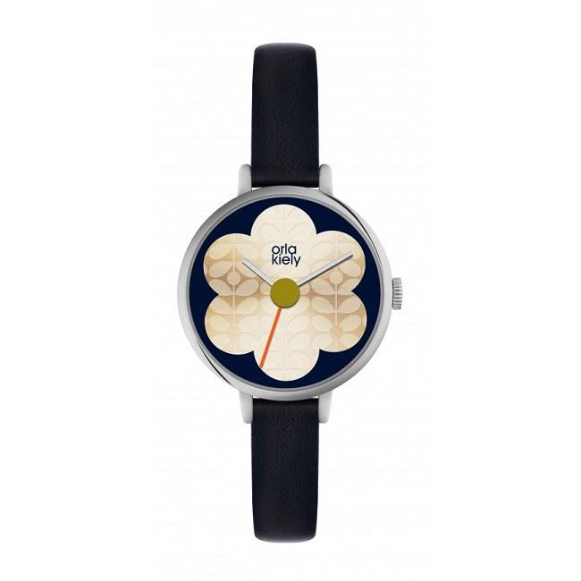 orla kiely iris silver watch ok2149