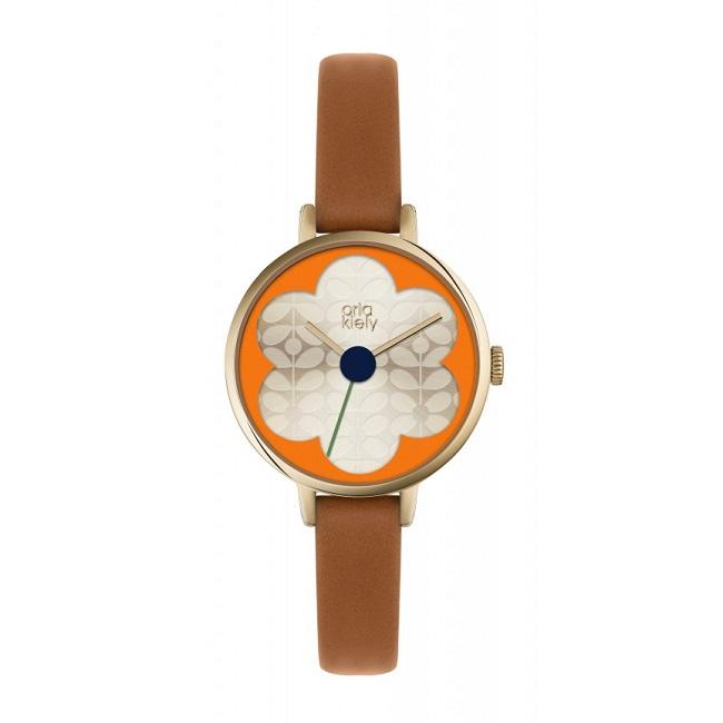 orla kiely iris tan watch ok2152