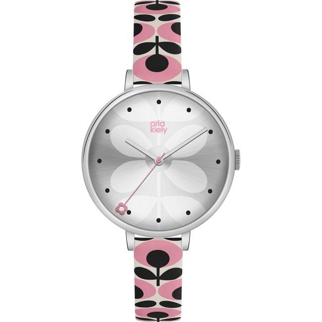 orla kiely pink ivy watch ok2173