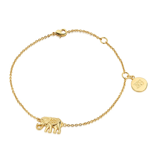 bracelet by neatie elephant personalised lucky