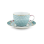 Blushing Birds Espresso Cup and Saucer