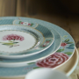 Blushing Birds Porcelain Plates