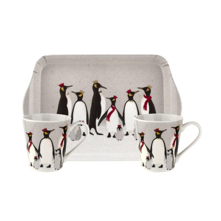 Penguin mug and tray