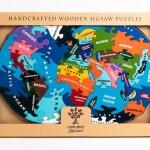 Alphabet Jigsaws Map of World Jigsaw Puzzle